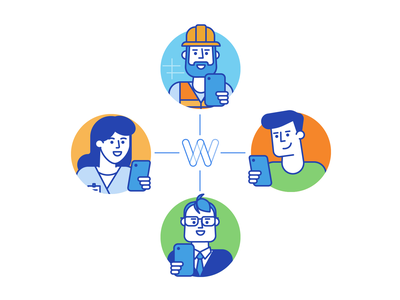 Workbookers onboarding illustrations proffesional onboarding line illustration characters illustration flat design ui ux android iphone app mobile