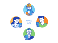 Workbookers onboarding illustrations