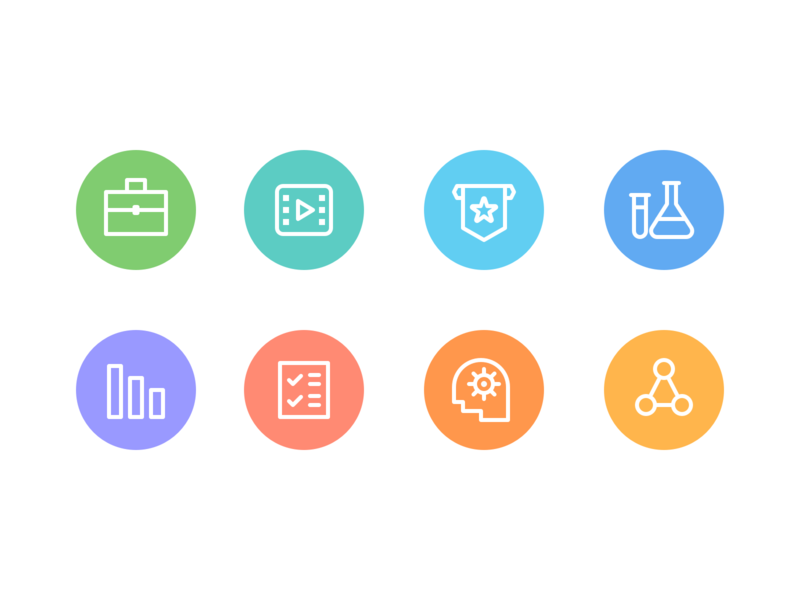 Workbookers workbook icons color line icons icons icon design ui ux android iphone app mobile