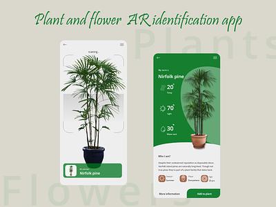 Plant AR app design minimal art app web typography ux ui logo illustration