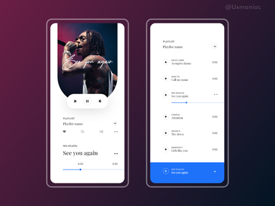 Music app concept uxdesign uidesign vector music app app design design illustrations art ux ui typography minimal app