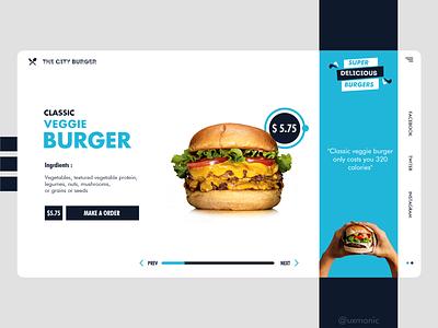 The City Burger web design website webdesign branding vector ux uidesign ui typography minimal illustrations art design