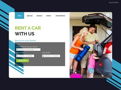Car rental web design concept color concept art flat dashboard ios concept app design vector ux uidesign app ui typography minimal illustrations design