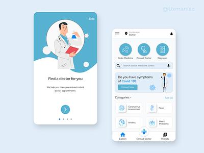 Medical Mobile App minimal design medical logo pharmacy app mobile app ux design ui design medical app ux uiux