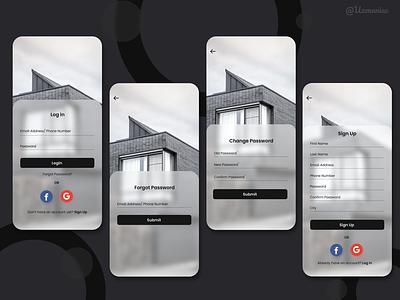Sign up / Login Glassmorphism Design app design glassy uxdesign best design graphicdesign app signup login glassmorphism uidesign minimal design ux ui