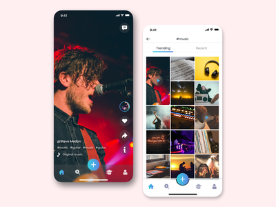 Social media trending glassy uiux uxui cool best ott tiktok videoapp icon social media design glassmorphism networking socialmedia minimal app design uidesign ui design ux
