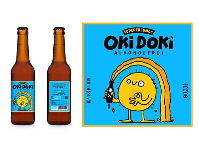 OKI DOKI comic craftbeer illustration oki doki label beer