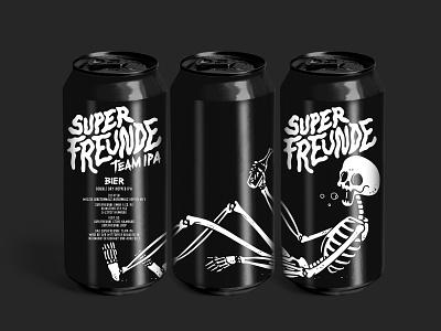 superfreunde team ipa skull can beer superfreunde illustration