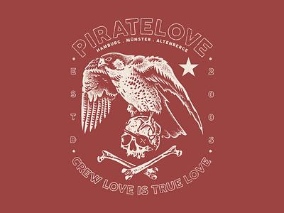 piratelove 2020 piratelove falcon doodle sketch illustration