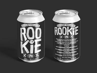 SUPERFREUNDE ROOKIE IPA beercan beer branding lettering handlettering can superfreunde