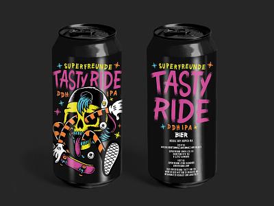 SUPERFREUNDE TASTY RIDE IPA skateboard tastyride skate can beer superfreunde
