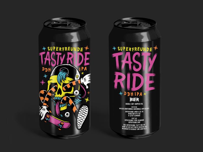 SUPERFREUNDE TASTY RIDE IPA tastyride skate can beer superfreunde