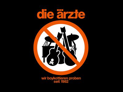 Die Ärzte boykottieren Proben logo vintage punk design illustration dieärzte