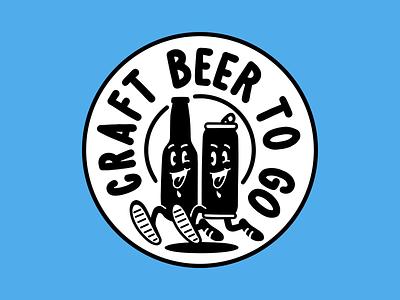 craft beer to go design logo vintage sketch drawing illustration