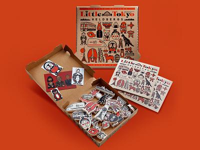 LITTLE TOKYO packaging art game tokyo illustration