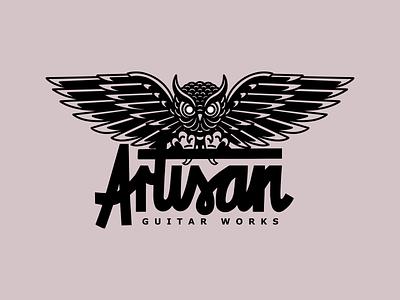 ARTISAN GUITAR WORKS design illustration works guitar artisan logo