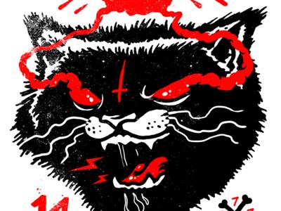 devils cat cat devil fresh horror illustration drawing blackcat workinprogress sketch