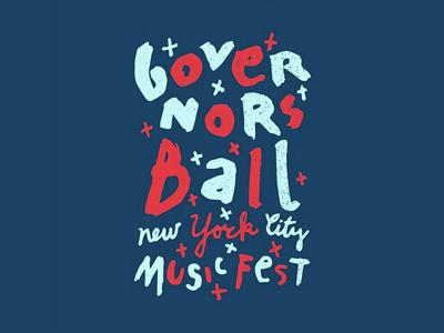 funky govball festival handwriting typography fresh new york governors ball govball