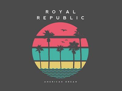 american dream venice beach california american dream royal republic fresh summer illustration