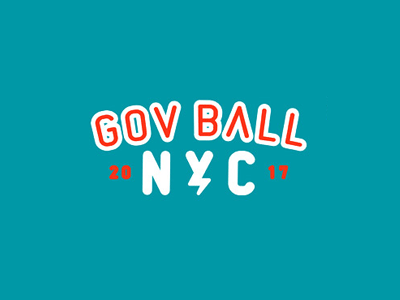 gumball festival governors ball lettering govball baseball neon typo typography retro illustration