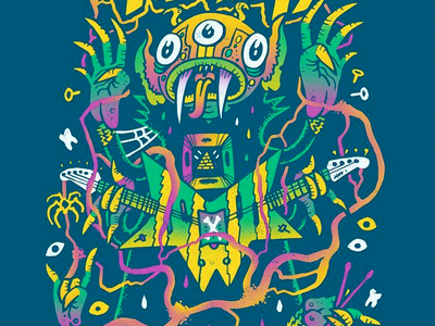igor from the swamp psychedelic fresh funk igor trippy hippie swamp doodle drawing sketch illustration