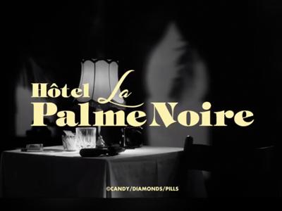 la palme noire movie vintage 50s casablanca hotel la palme noire logo