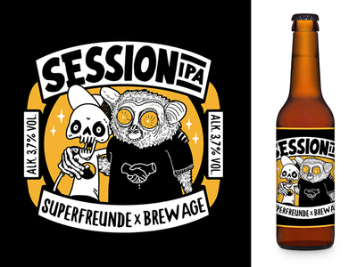 Superfreunde Session IPA Label