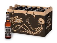 Cardboard Beer Crate for Superfreunde
