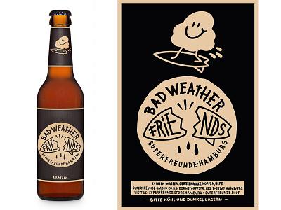 bad weather friends label branding design doodle vintage drawing sketch illustration
