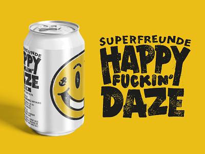 happy daze vintage illustration fresh can daze happy beer superfreunde