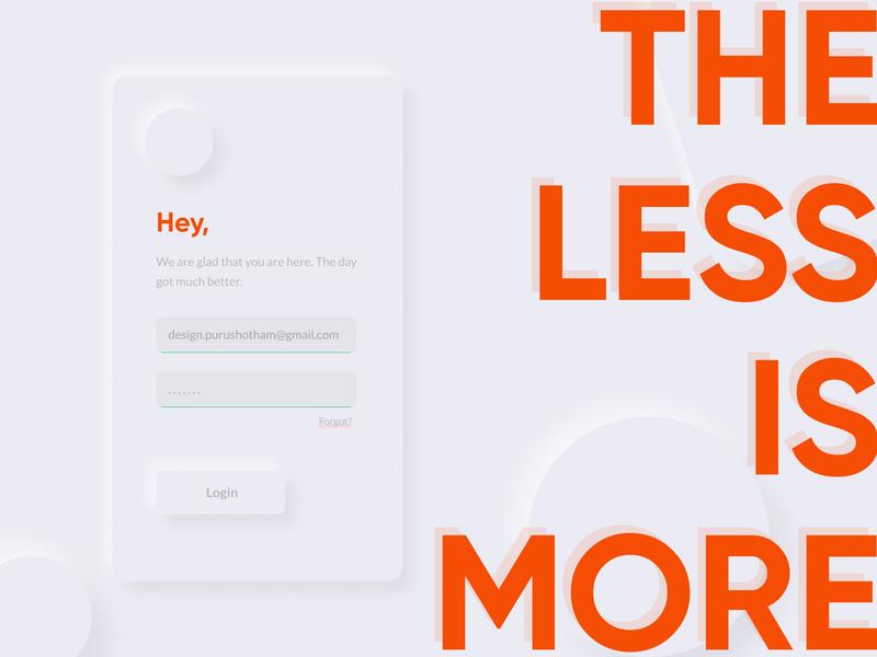 The Soft UI Minimal Design branding design brand identity branding agency illustration design app design lessismore less more popping login screen login form login page minimal design soft ui