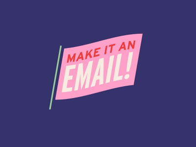 Make it an email! waving interstate kansascity flag pink logo badge blue typography illustration design vector kansas city