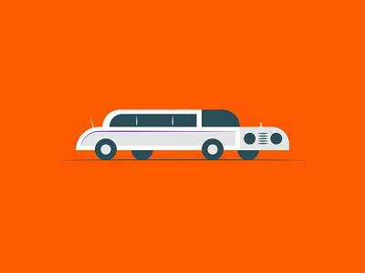 Vectober 2020 – Day 7 Fancy vectober2020 vectober inktober2020 inktober fancy limo cars orange automotive illustration design vector kansas city