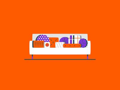 Vectober 2020 – Day 9 Throw (Pillows) inktober vectober throw pillows throw pillows orange illustration design vector kansas city