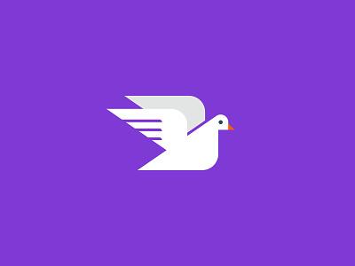 Vectober 2020 – Day 10 Hope purple vectober2020 vectober inktober2020 inktober dove hope illustration design vector kansas city