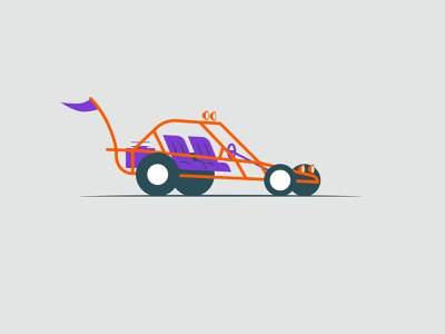 Vectober 2020 – Day 13 Dune (Buggy) vectober2020 vectober inktober2020 inktober dune buggy buggy dune orange cars automotive illustration design vector kansas city