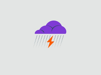 Vectober 2020 – Day 17 Storm cloud storm inktober2020 inktober vectober2020 vectober orange illustration design vector kansas city