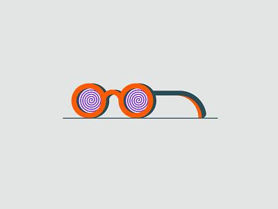 Vectober 2020 – Day 19 Dizzy vectober2020 vectober inktober2020 inktober dizzy spiral glasses illustration design vector kansas city