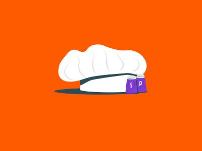 Vectober 2020 – Day 22 Chef chef hat chef inktober2020 inktober vectober2020 vectober orange illustration design vector kansas city