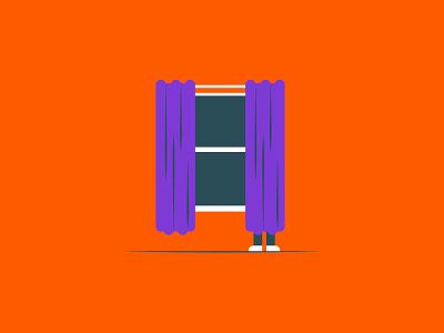 Vectober 2020 – Day 26 Hide curtains hide inktober2020 inktober vectober2020 vectober orange illustration design vector kansas city