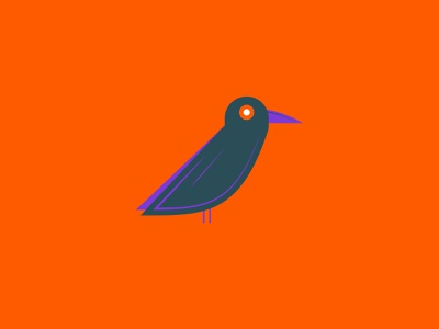 Vectober 2020 – Day 30 Ominous crow ominous inktober inktober2020 vectober2020 vectober orange illustration design vector kansas city