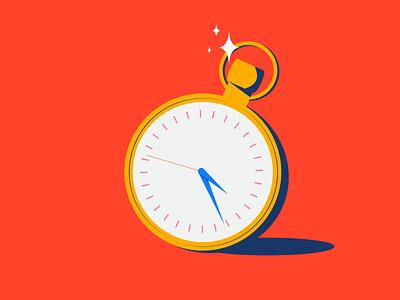 Inktober - Tick minneapolis gold pocket watch watch tick tock tock tick inktober2021 inktober orange illustration design vector