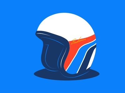Inktober - Helmet motorsport vintage inktober2021 inktober badnews racing helmet blue typography illustration design vector