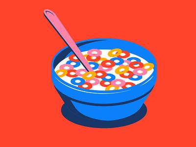 Inktober - Loop fruit loops cereal breakfast loop inktober orange illustration design vector