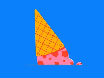 Inktober - Splat minneapolis bad day splat ice cream inktober illustration design vector