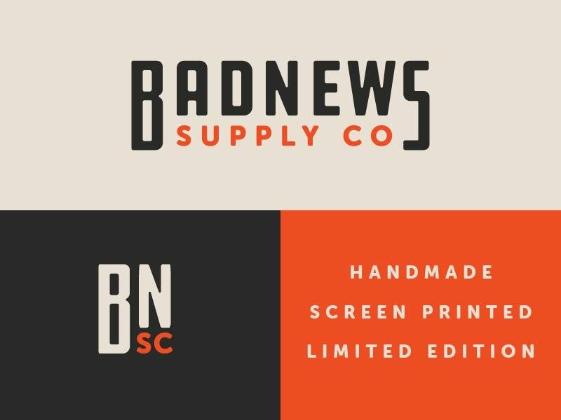 Badnews Brand Exploration V2 typography icon logo branding design automotive vector kansas city