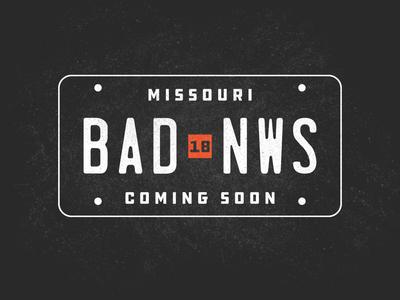 Badnews Plate
