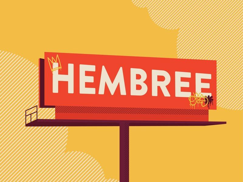 Hembree typography illustration design vector kansas city
