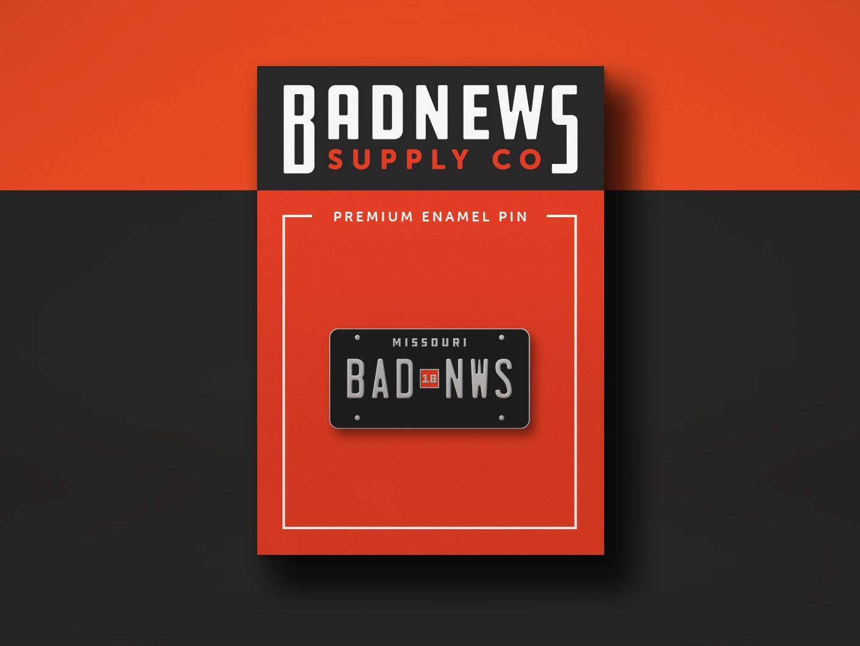 Badnews Enamel pin merch enamel pin license illustration cars automotive kansas city