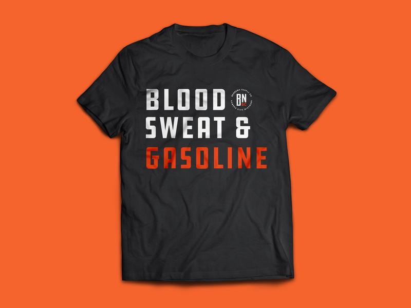 Badnews Shirt 001 badge orange typography branding cars design automotive vector kansas city